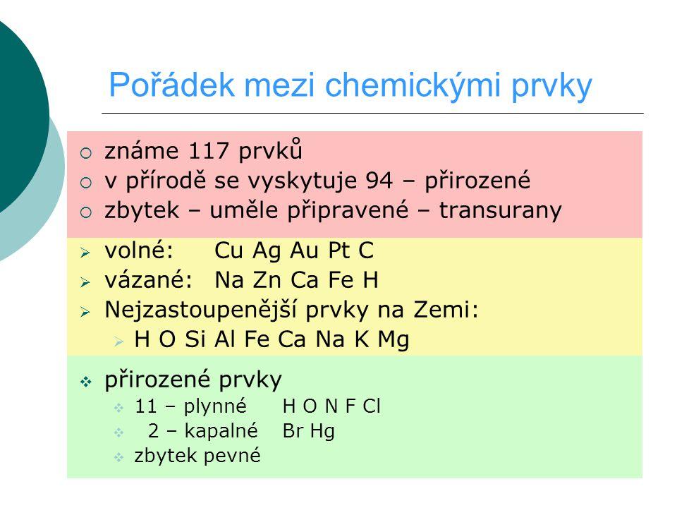 Pořádek mezi chemickými prvky