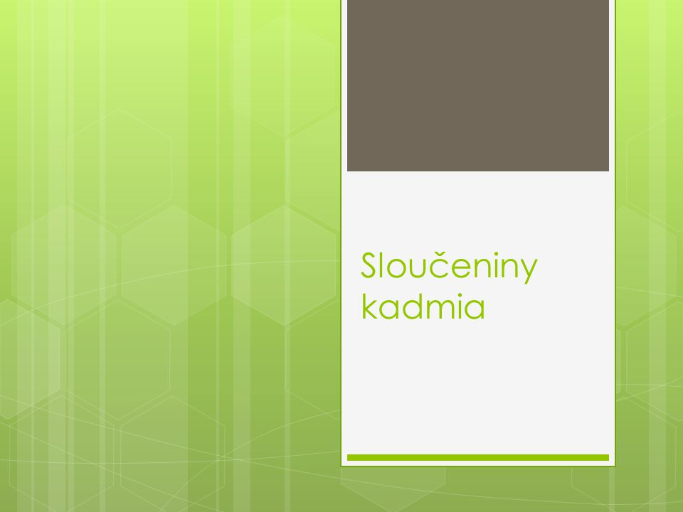 Sloučeniny kadmia