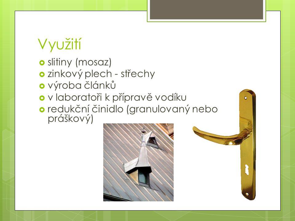 Využití slitiny (mosaz) zinkový plech - střechy výroba článků