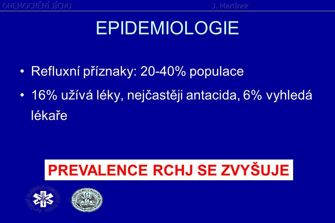 EPIDEMIOLOGIE PREVALENCE RCHJ SE ZVYŠUJE