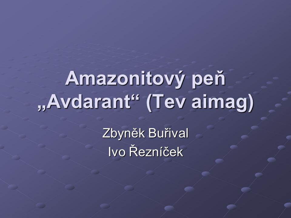 """Amazonitový peň """"Avdarant (Tev aimag)"""
