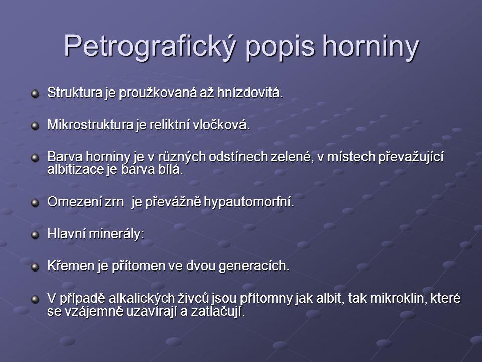 Petrografický popis horniny