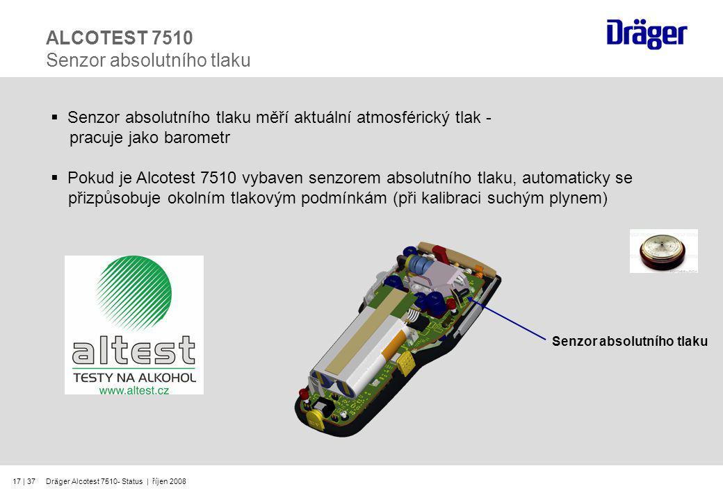 ALCOTEST 7510 Senzor absolutního tlaku