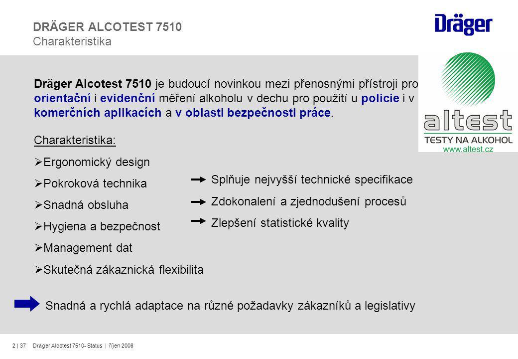 DRÄGER ALCOTEST 7510 Charakteristika