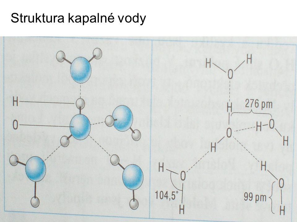 Struktura kapalné vody