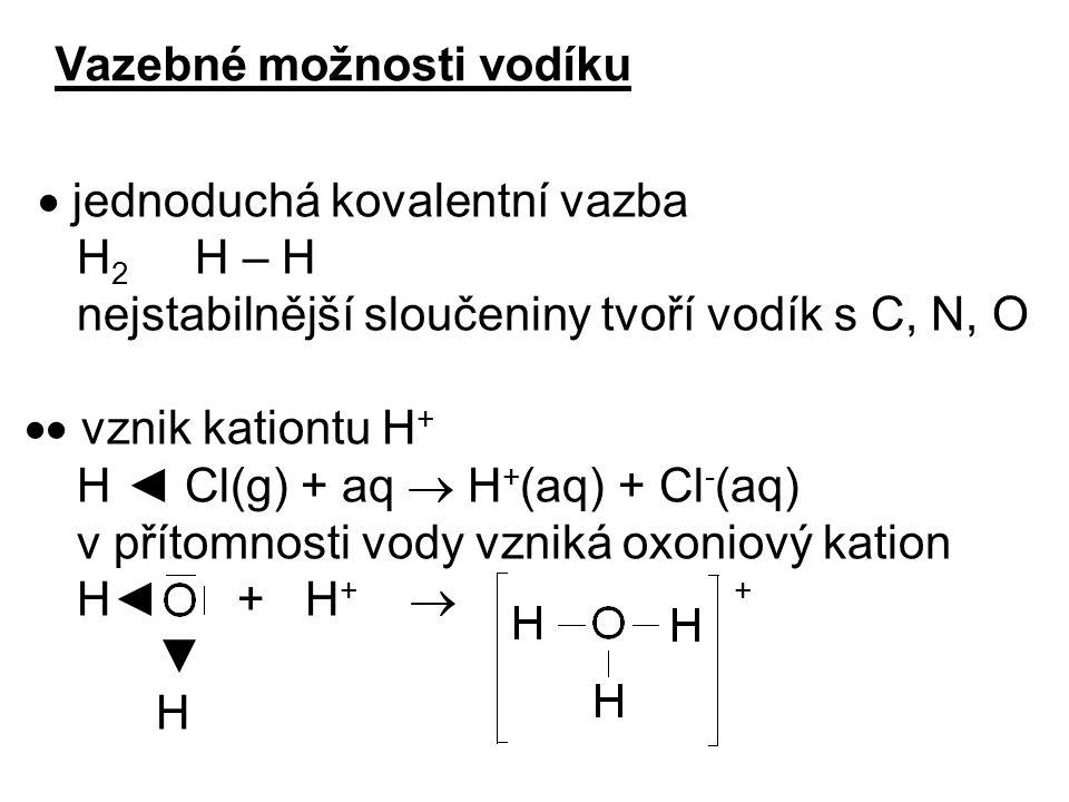 Vazebné možnosti vodíku