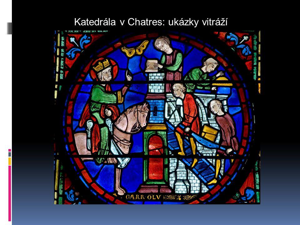 Katedrála v Chatres: ukázky vitráží
