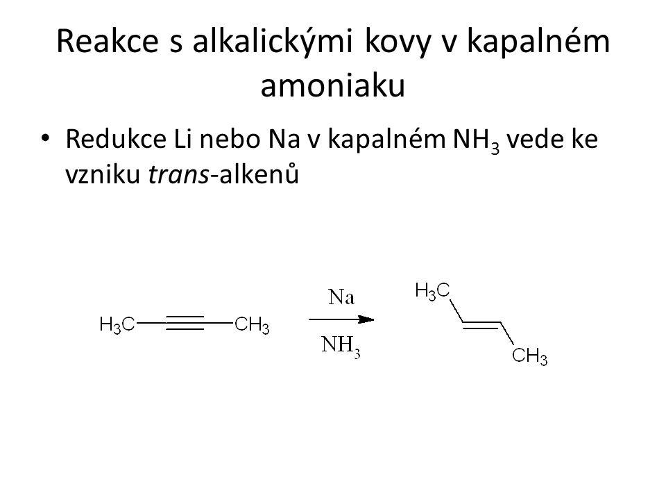 Reakce s alkalickými kovy v kapalném amoniaku