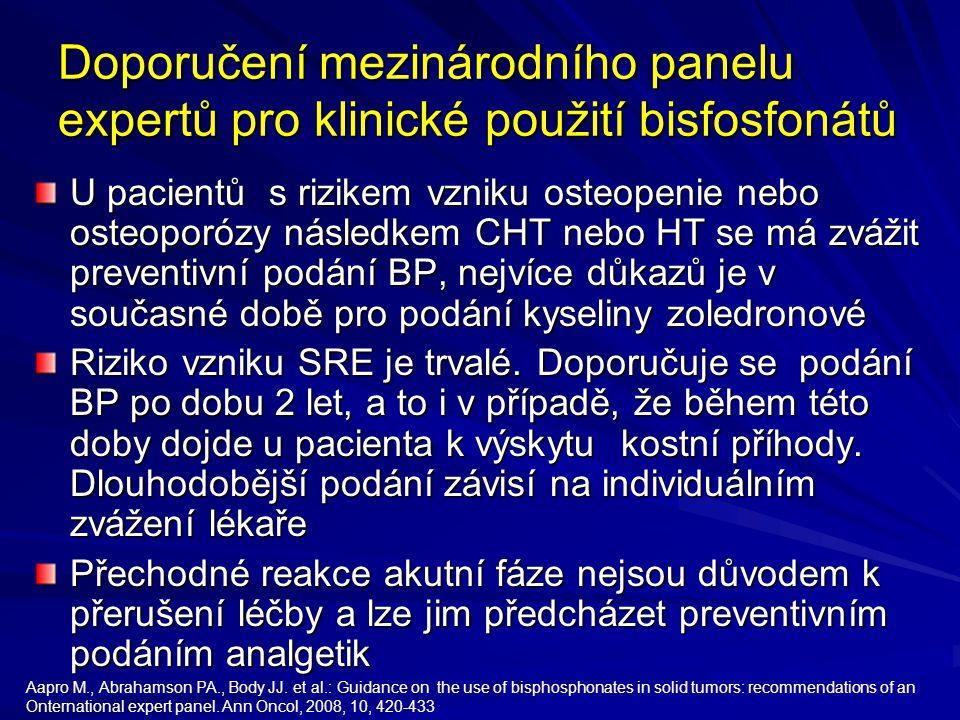 Doporučení mezinárodního panelu expertů pro klinické použití bisfosfonátů