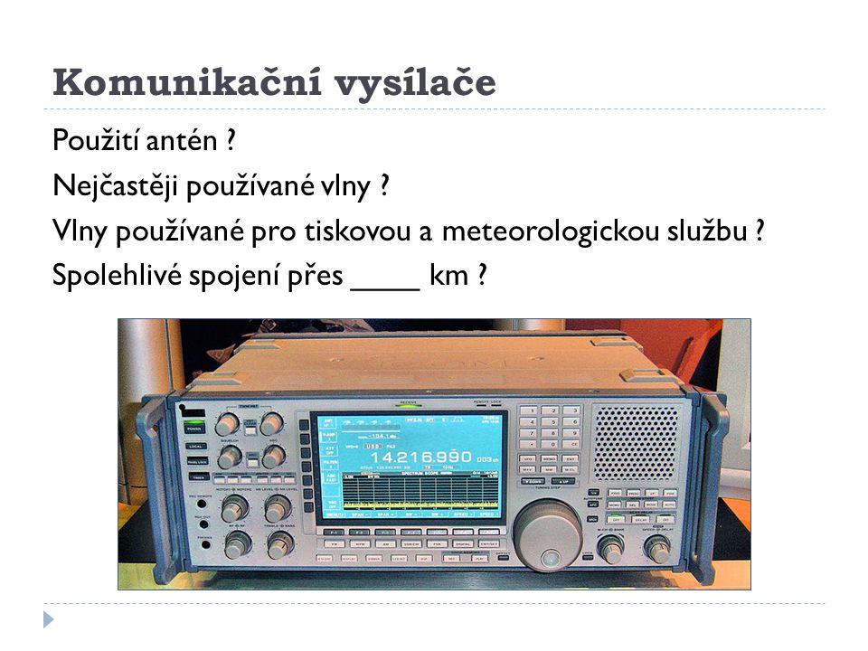 Komunikační vysílače