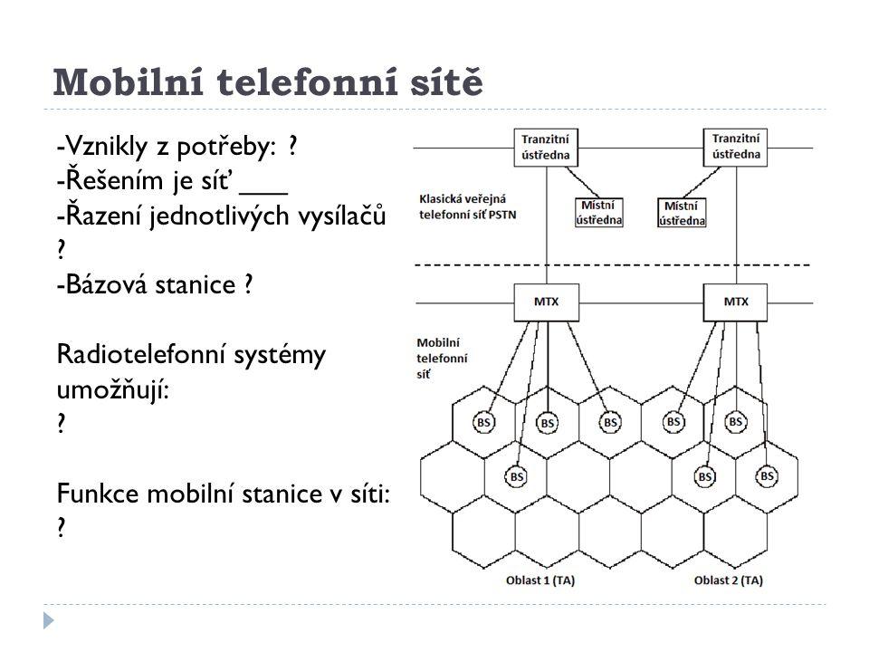Mobilní telefonní sítě
