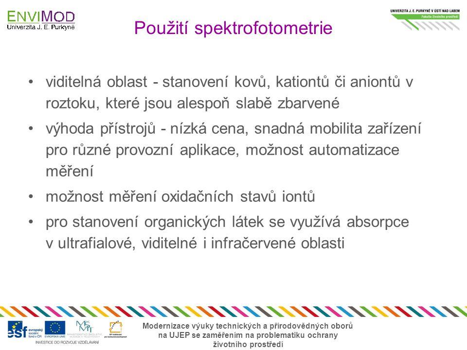 Použití spektrofotometrie