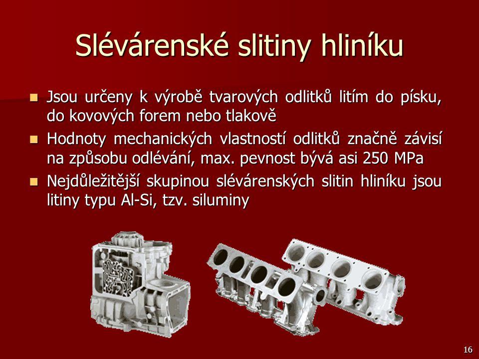 Slévárenské slitiny hliníku