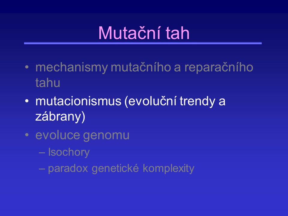 Mutační tah mechanismy mutačního a reparačního tahu
