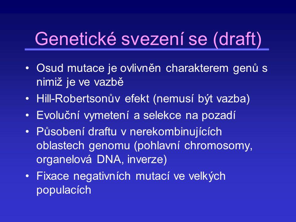 Genetické svezení se (draft)