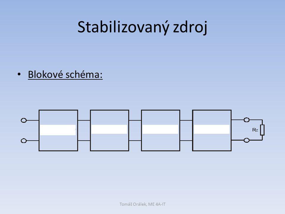 Stabilizovaný zdroj Blokové schéma: Tomáš Orálek, ME 4A-IT