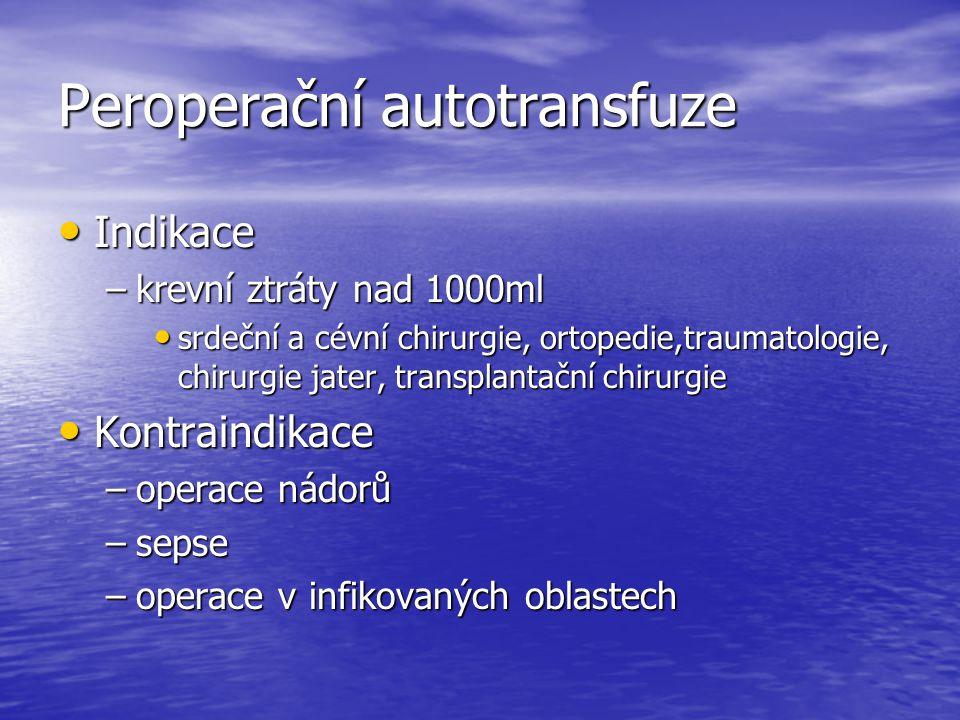 Peroperační autotransfuze