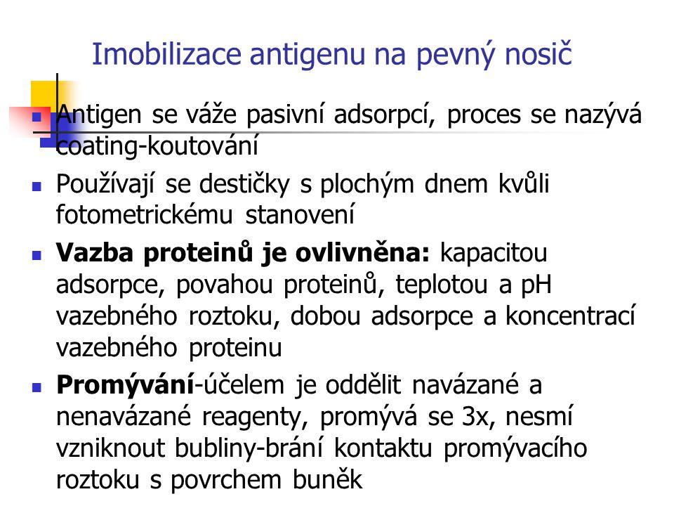 Imobilizace antigenu na pevný nosič