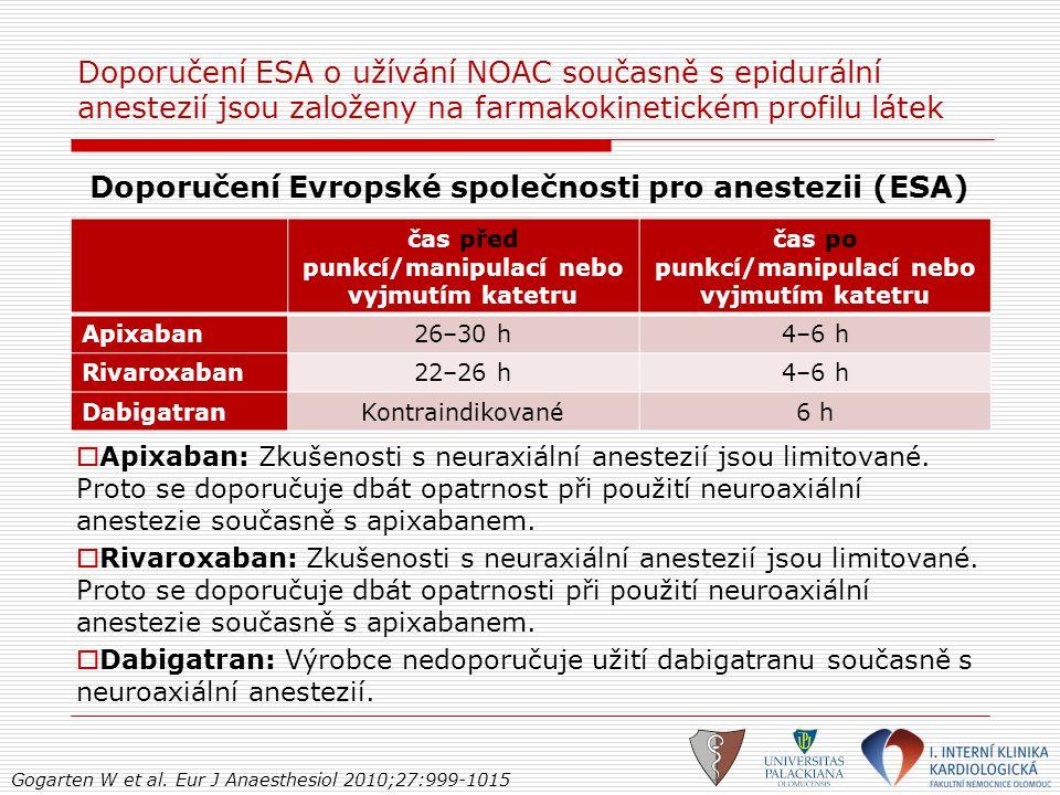 Doporučení Evropské společnosti pro anestezii (ESA)
