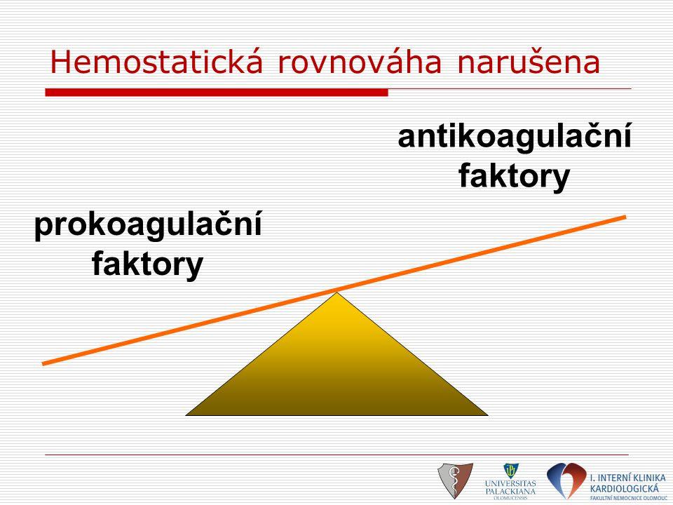 Hemostatická rovnováha narušena