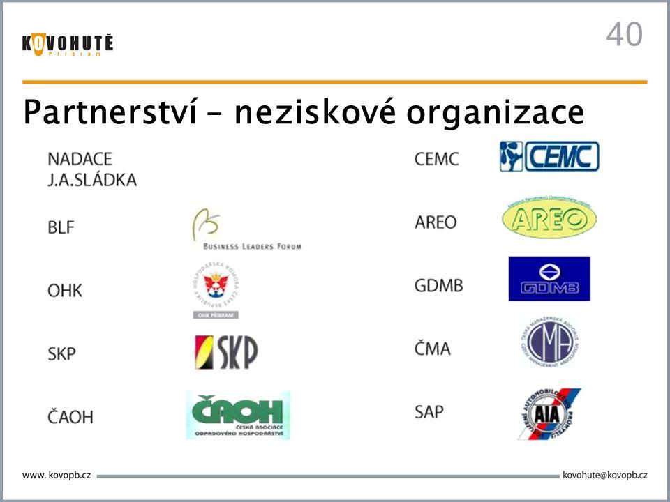 40 Partnerství – neziskové organizace