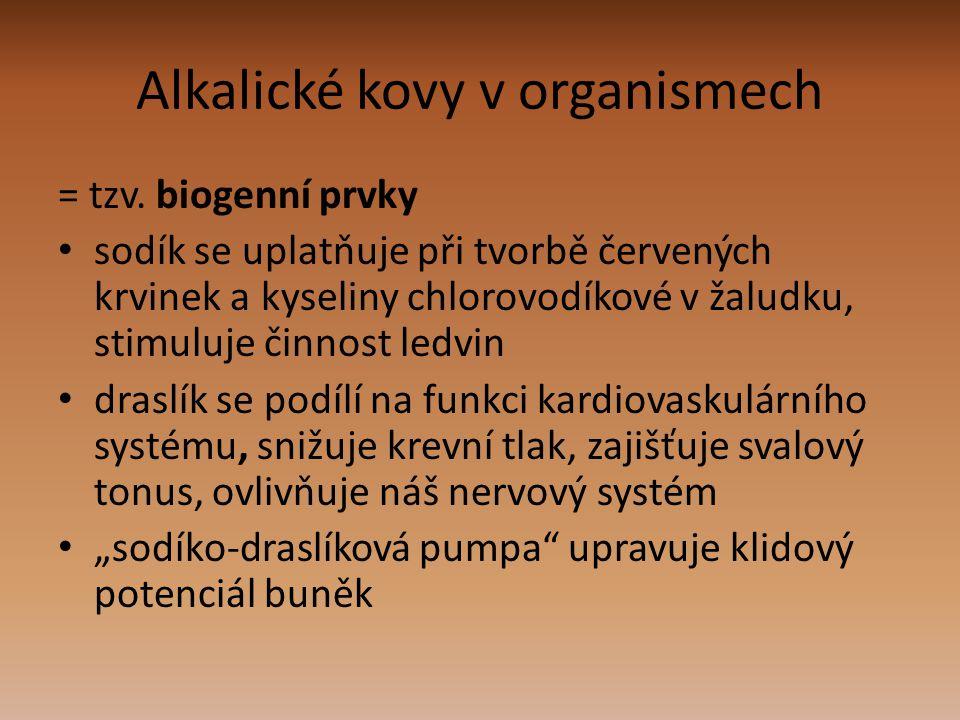 Alkalické kovy v organismech