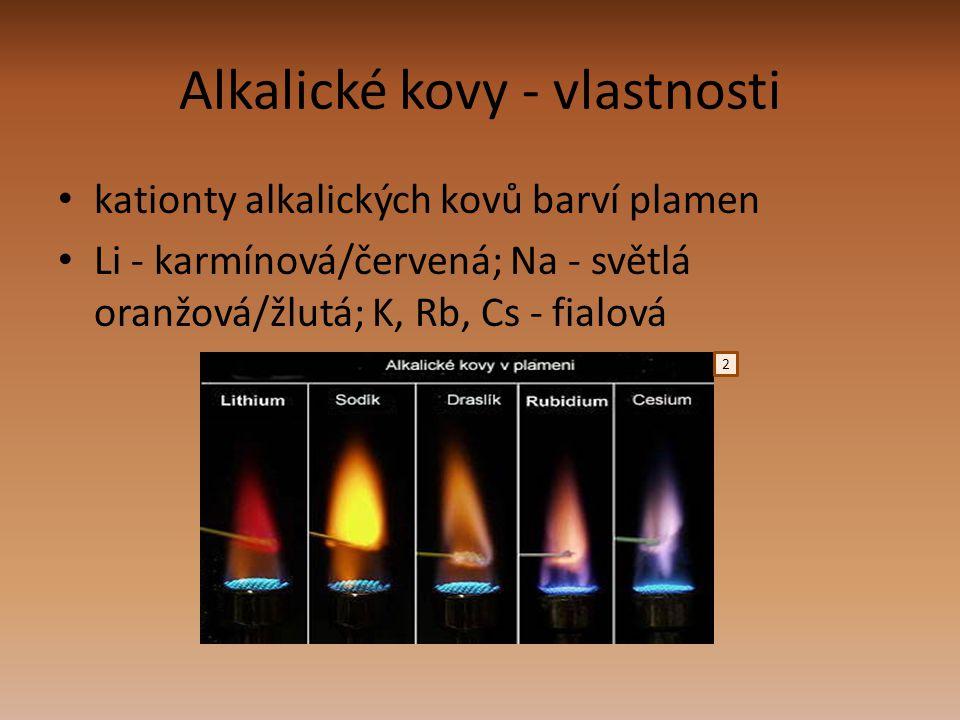 Alkalické kovy - vlastnosti