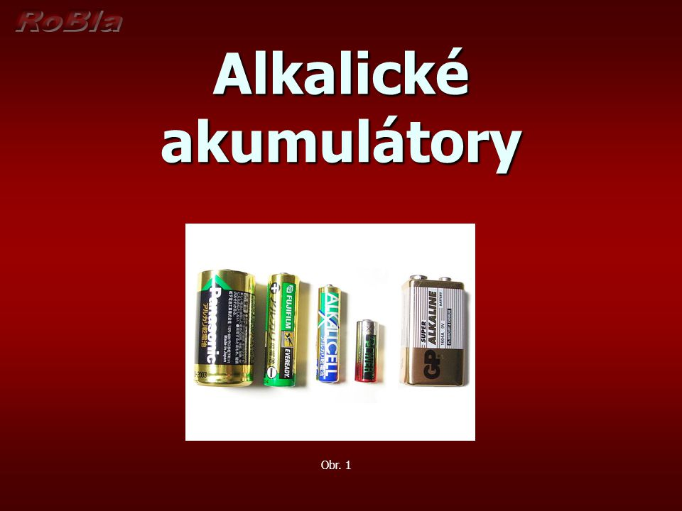 Alkalické akumulátory