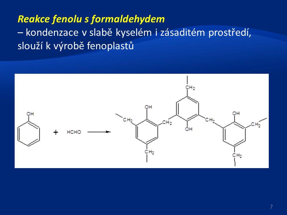 Reakce fenolu s formaldehydem