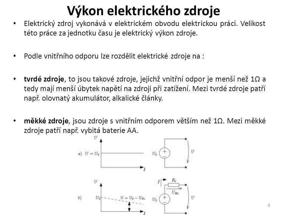 Výkon elektrického zdroje