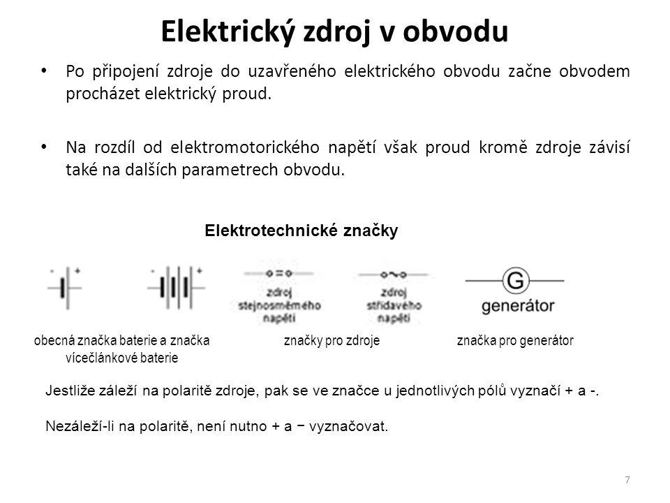 Elektrický zdroj v obvodu