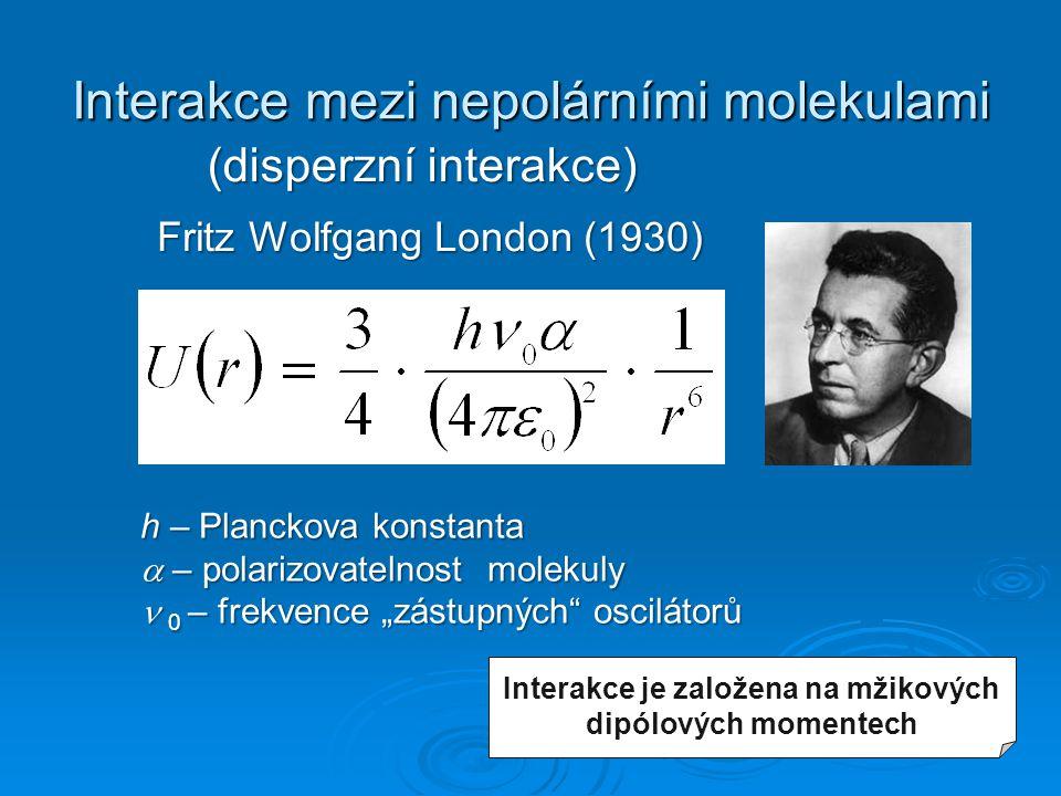 Interakce mezi nepolárními molekulami