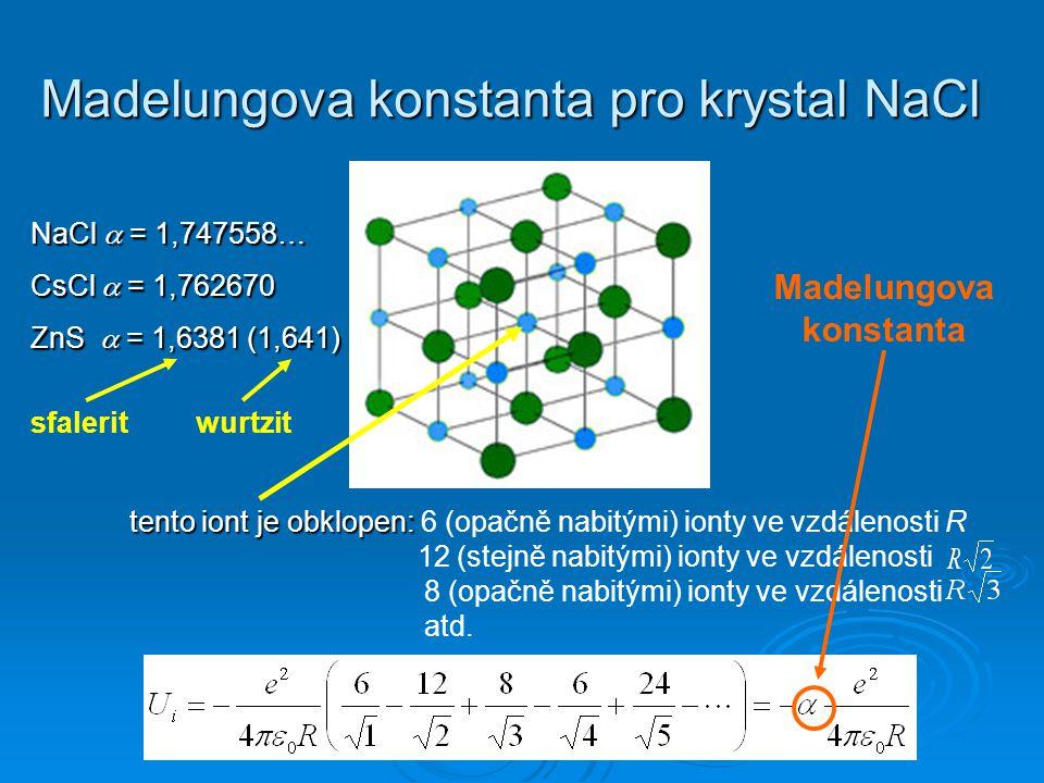 Madelungova konstanta pro krystal NaCl