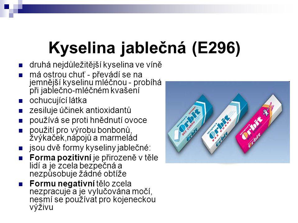 Kyselina jablečná (E296) druhá nejdůležitější kyselina ve víně