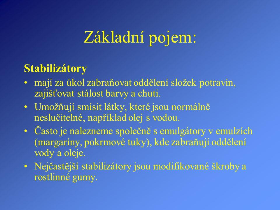 Základní pojem: Stabilizátory
