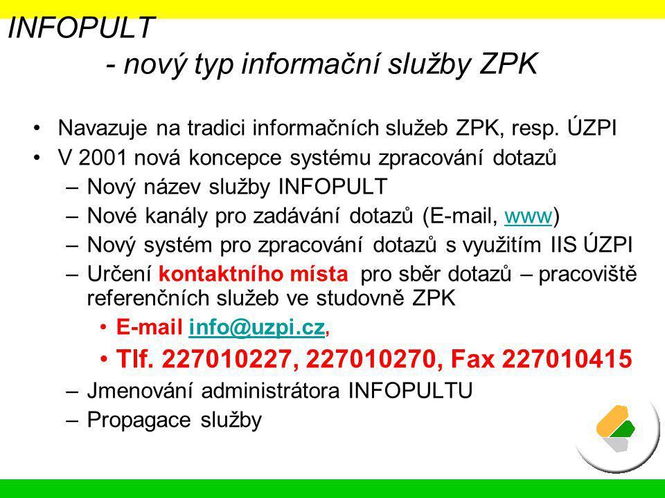 INFOPULT - nový typ informační služby ZPK