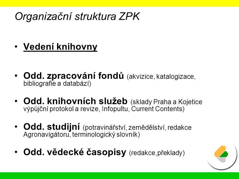 Organizační struktura ZPK
