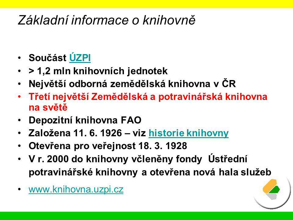 Základní informace o knihovně