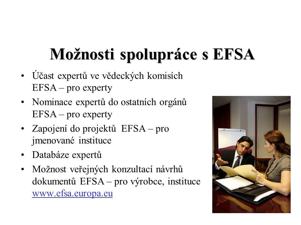Možnosti spolupráce s EFSA