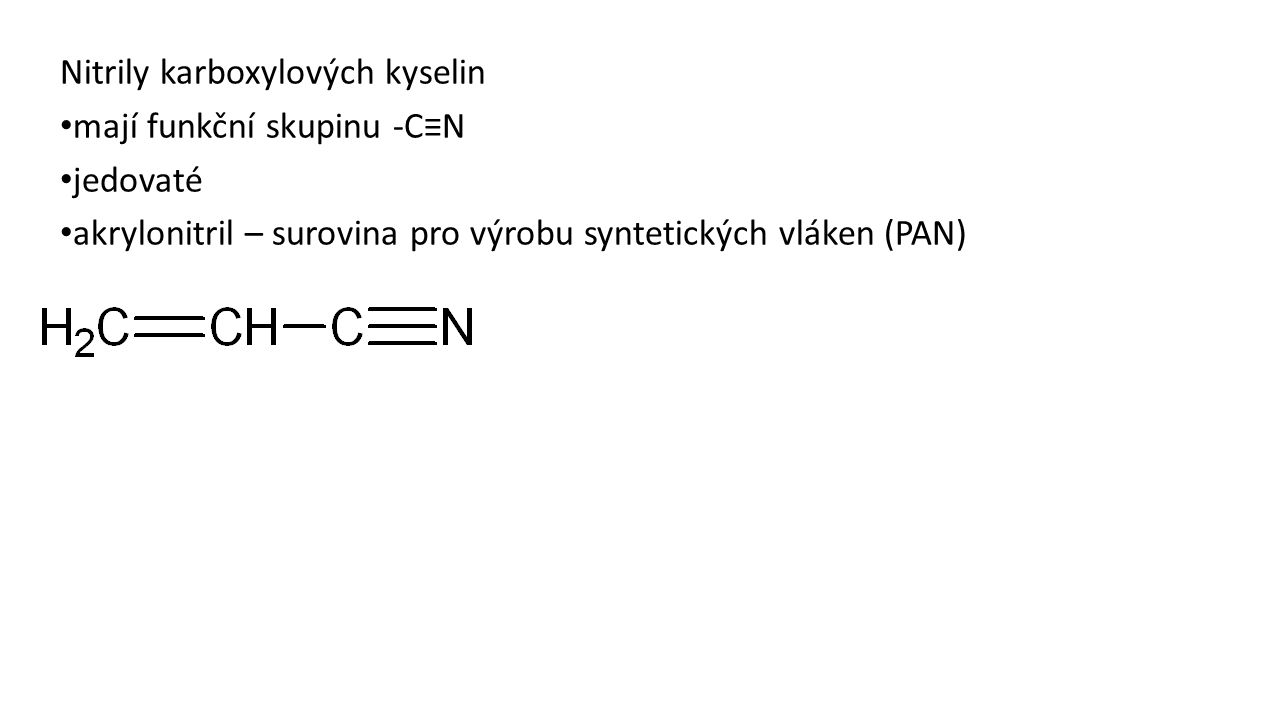 Nitrily karboxylových kyselin