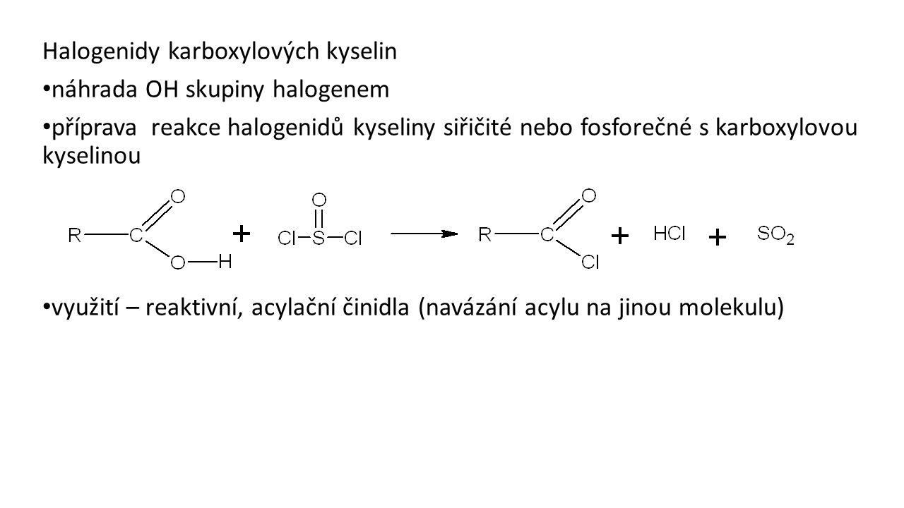 Halogenidy karboxylových kyselin