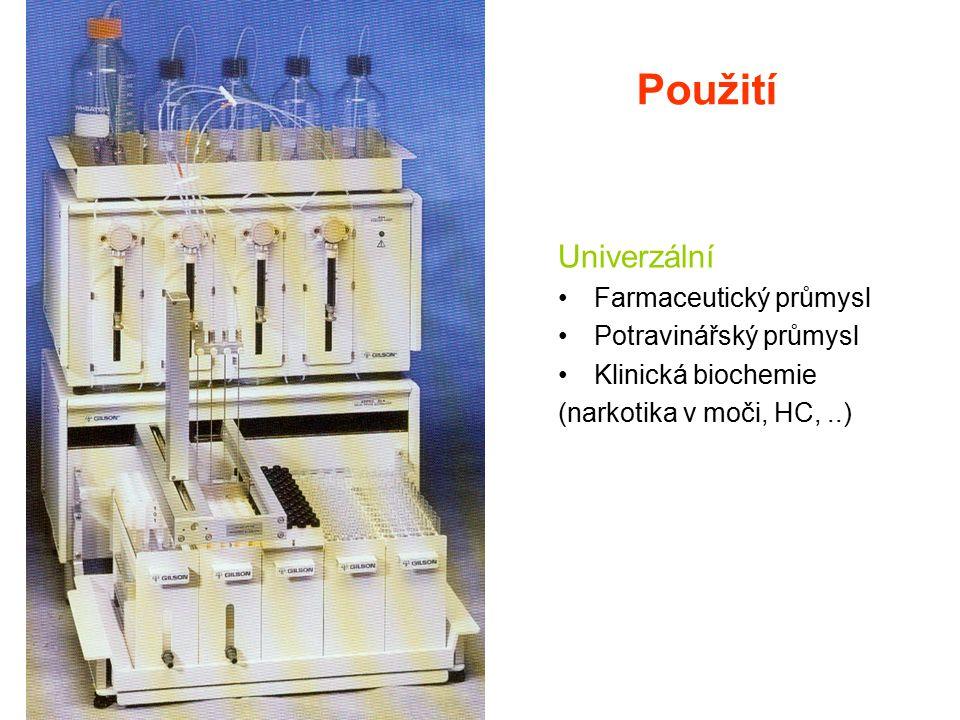Použití Univerzální Farmaceutický průmysl Potravinářský průmysl