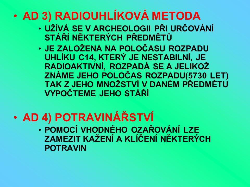 AD 3) RADIOUHLÍKOVÁ METODA