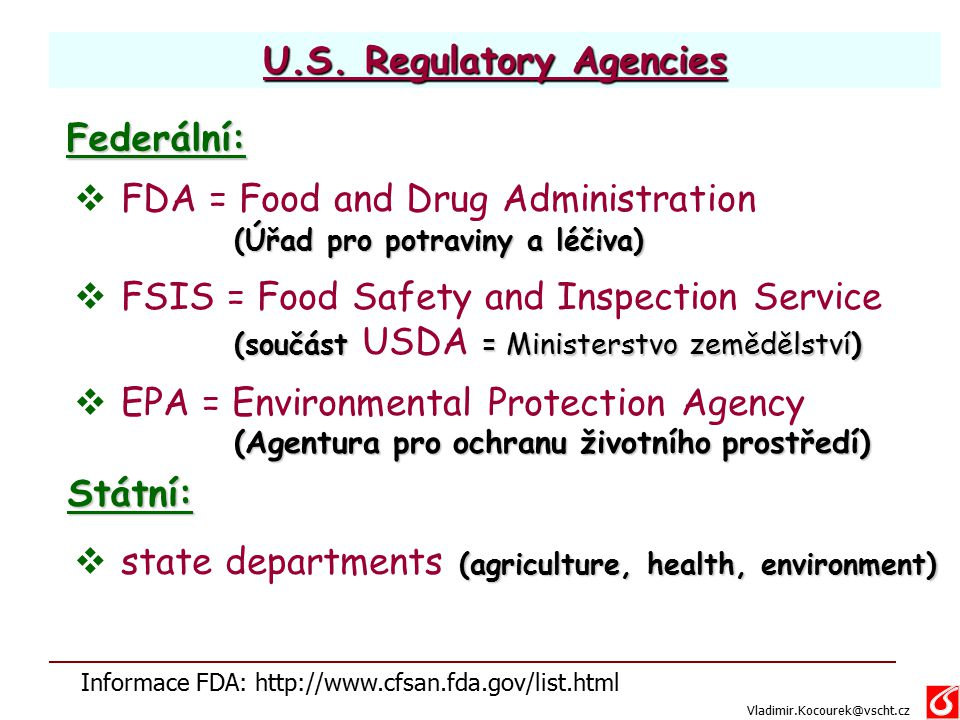 U.S. Regulatory Agencies