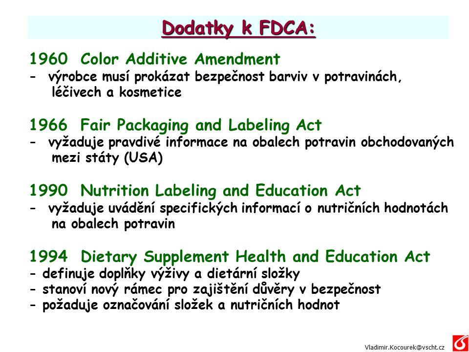 Dodatky k FDCA: 1960 Color Additive Amendment