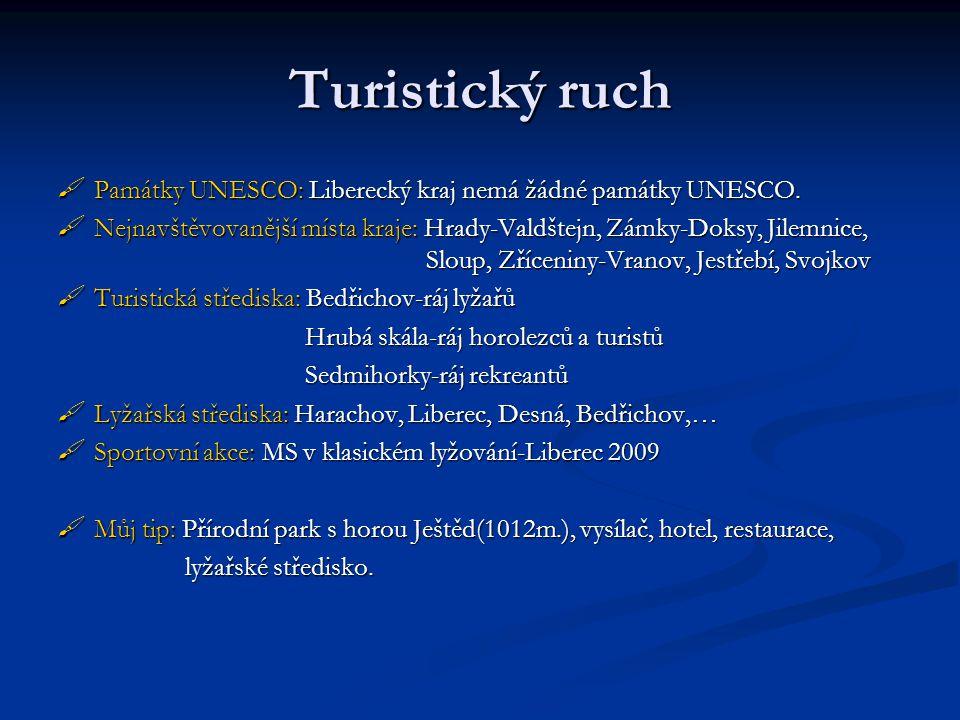 Turistický ruch Památky UNESCO: Liberecký kraj nemá žádné památky UNESCO.