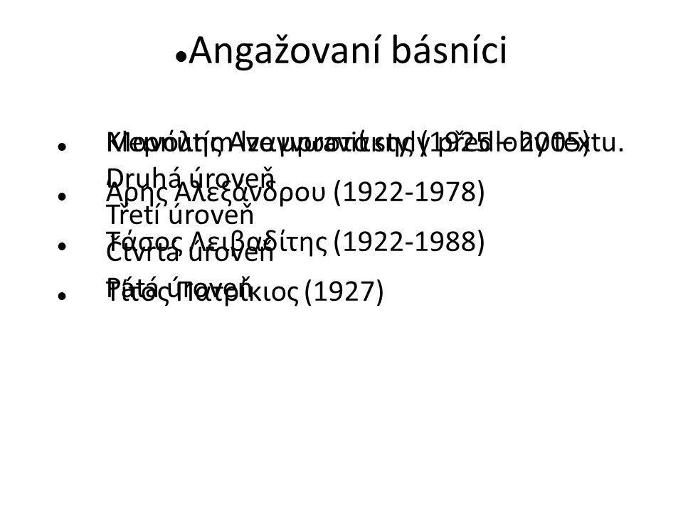 Angažovaní básníci Μανόλης Αναγνωστάκης (1925 – 2005)