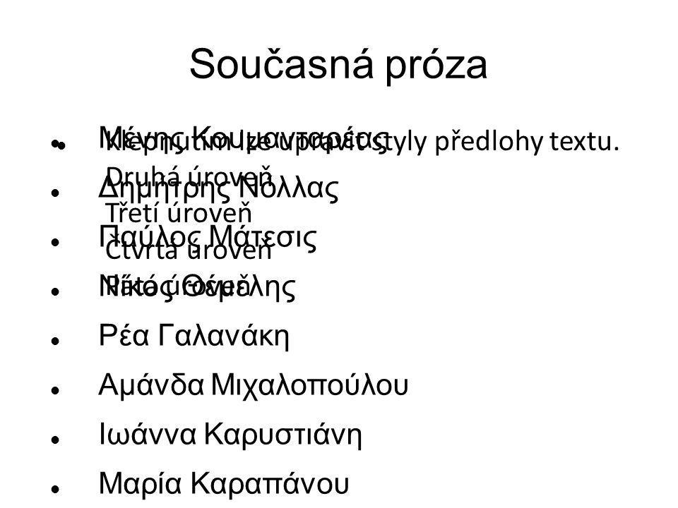 Současná próza Μένης Κουμανταρέας Δημήτρης Νόλλας Παύλος Μάτεσις