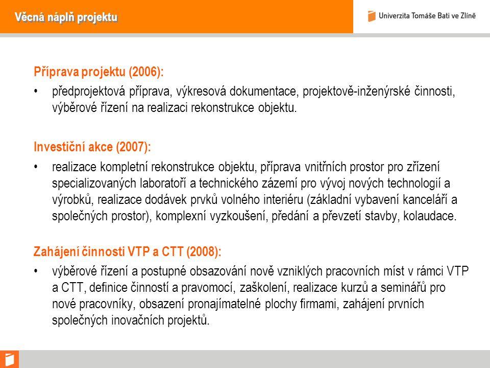 Zahájení činnosti VTP a CTT (2008):