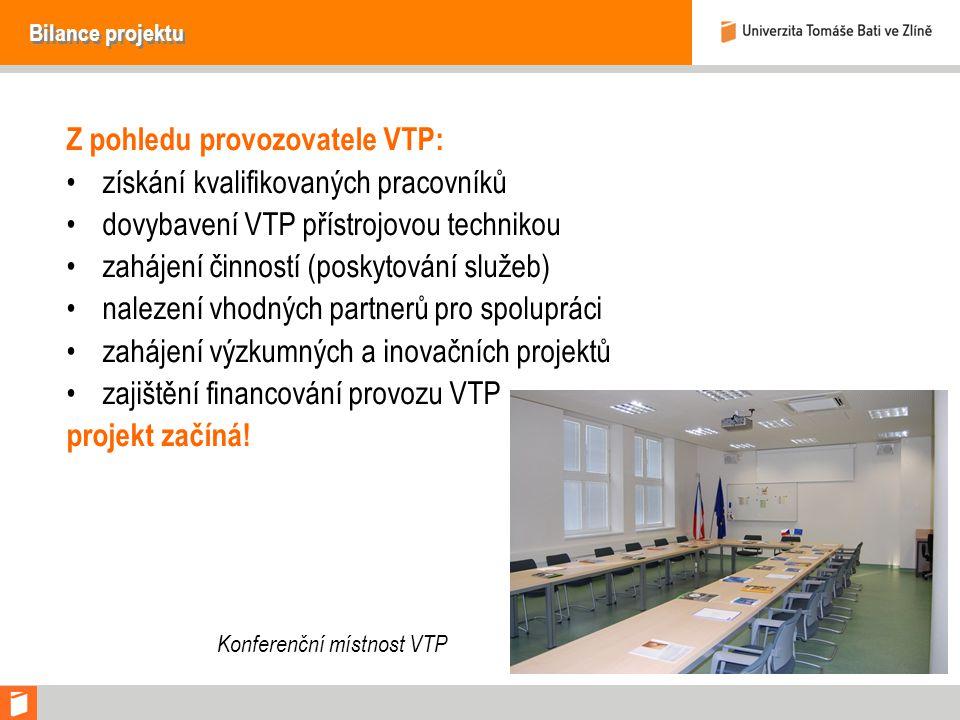 Z pohledu provozovatele VTP: získání kvalifikovaných pracovníků